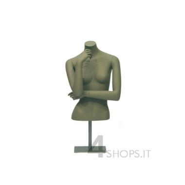 Busto Donna maglieria con braccia e base in metallo