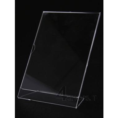 Porta prezzi in plexiglass formato A4