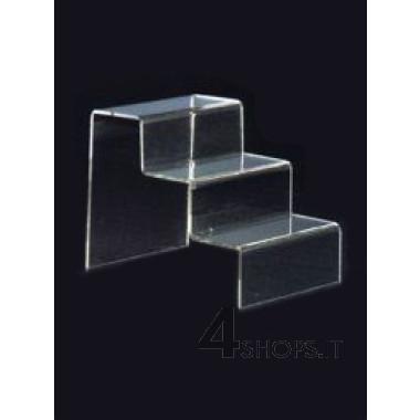 Scaletta espositiva in plexiglass trasparente
