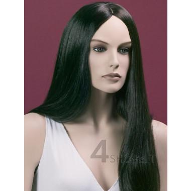 Parrucca donna nera liscia