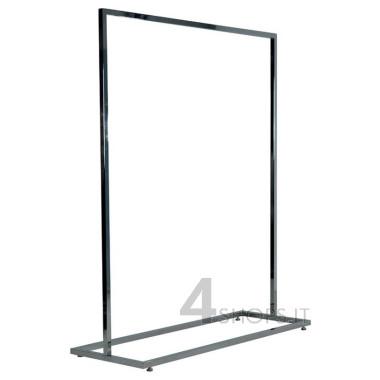 Stender 120 cm tubo quadro con base rettangolare e piedini regolabili