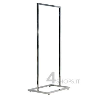 Stender 60 cm tubo quadro con base rettangolare e piedini regolabili