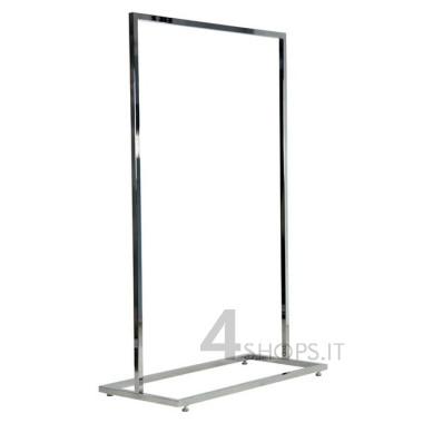 Stender 90 cm tubo quadro con base rettangolare e piedini regolabili