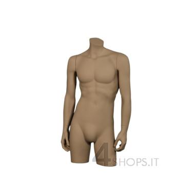 Torso Uomo tinta naturale completo di braccia - Fronte