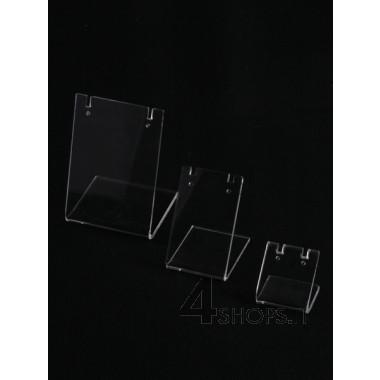 Espositore per orecchini cm 3,5 in plexiglass trasparente