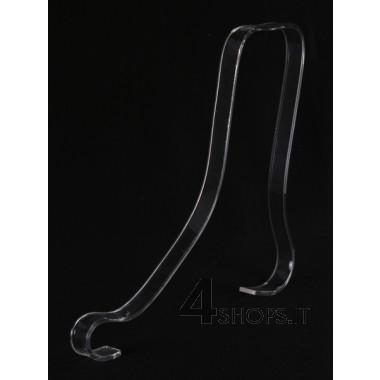 Supporto per lacci calzature alte in plexiglass trasparente