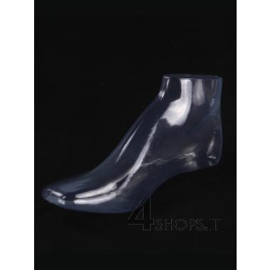 Espositore piede in plastica trasparente