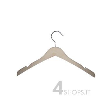 Gruccia capospalla con spacchi in legno di betulla, cm.40