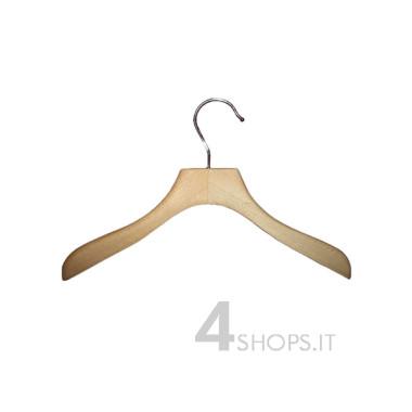 Gruccia capospalla bimbo cm 26 legno di faggio - Fronte