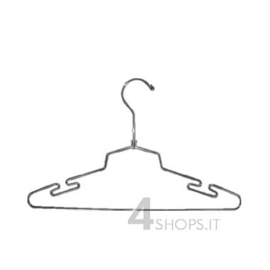 Gruccia cm 45 in metallo cromato con spacchi