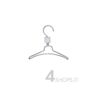 Gruccia capospalla bimbo cm 24 in alluminio - Fronte