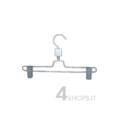 Gruccia cm 28 con pinza in alluminio - Fronte