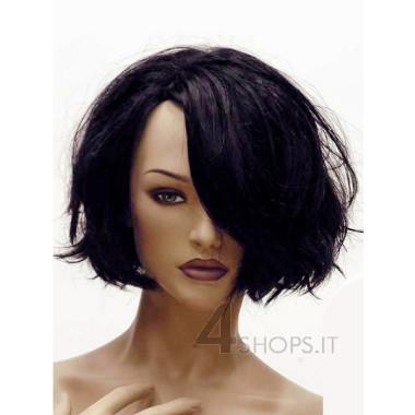 Parrucca donna nera mossa