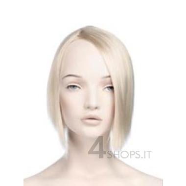 Parrucca donna bionda liscia corta