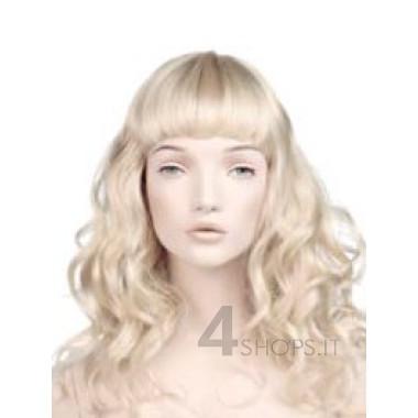 Parrucca donna bionda lunga mossa