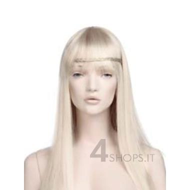 Parrucca donna bionda lunga con frangia