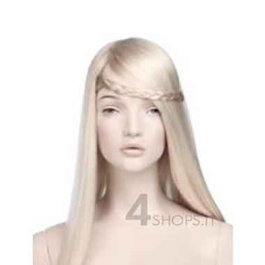 Parrucca donna bionda lunga con treccia