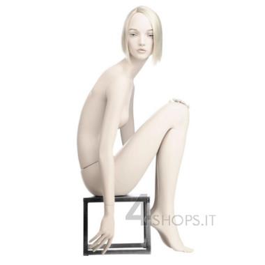 Manichino Donna tg.42 realistico con make up, pos.14 seduta