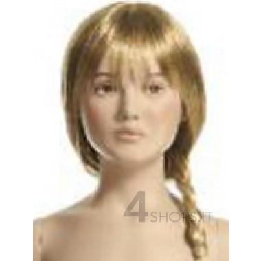 Parrucca bionda bambina 4 anni con treccia