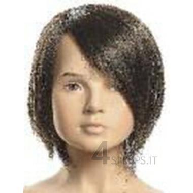 Parrucca nera bambino 6 anni con frangia a sinistra