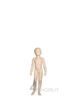 Manichino bambino 4 anni con testa stilizzata avorio