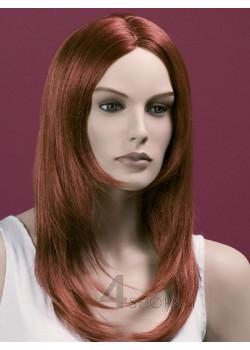 Parrucca donna rame liscia