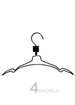Gruccia con porta spalline cm 40 in alluminio nero