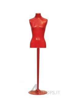 Busto Donna Bonaveri in vinile rosso completo di base