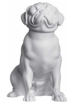 Manichino cane Carlino seduto bianco