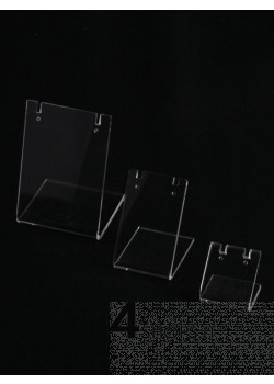 Espositore per orecchini cm 8,5 in plexiglass trasparente