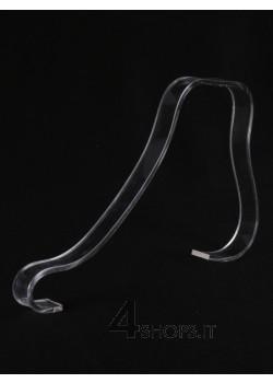 Supporto per lacci calzature basse in plexiglass trasparente