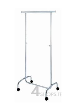 Stender cromato regolabile 80 cm. con ruote 50 mm.