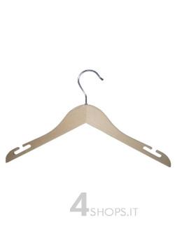 Gruccia capospalla, dotata di spacchi e realizzata in legno di faggio.