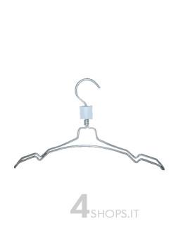 Gruccia capospalla cm 40 con spacchi in alluminio  - Fronte