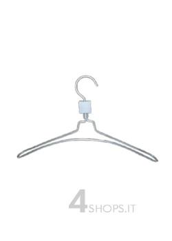 Gruccia capospalla cm 38 in alluminio satinato