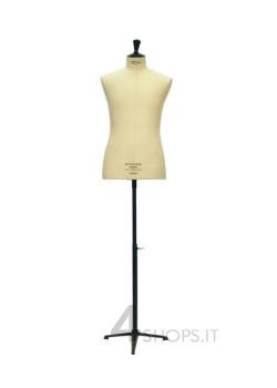 Busto Uomo sartoriale Stockman rivestito lino con base treppiede