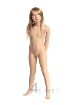 Manichino bambina 4 anni realistico con make up, pos.4D